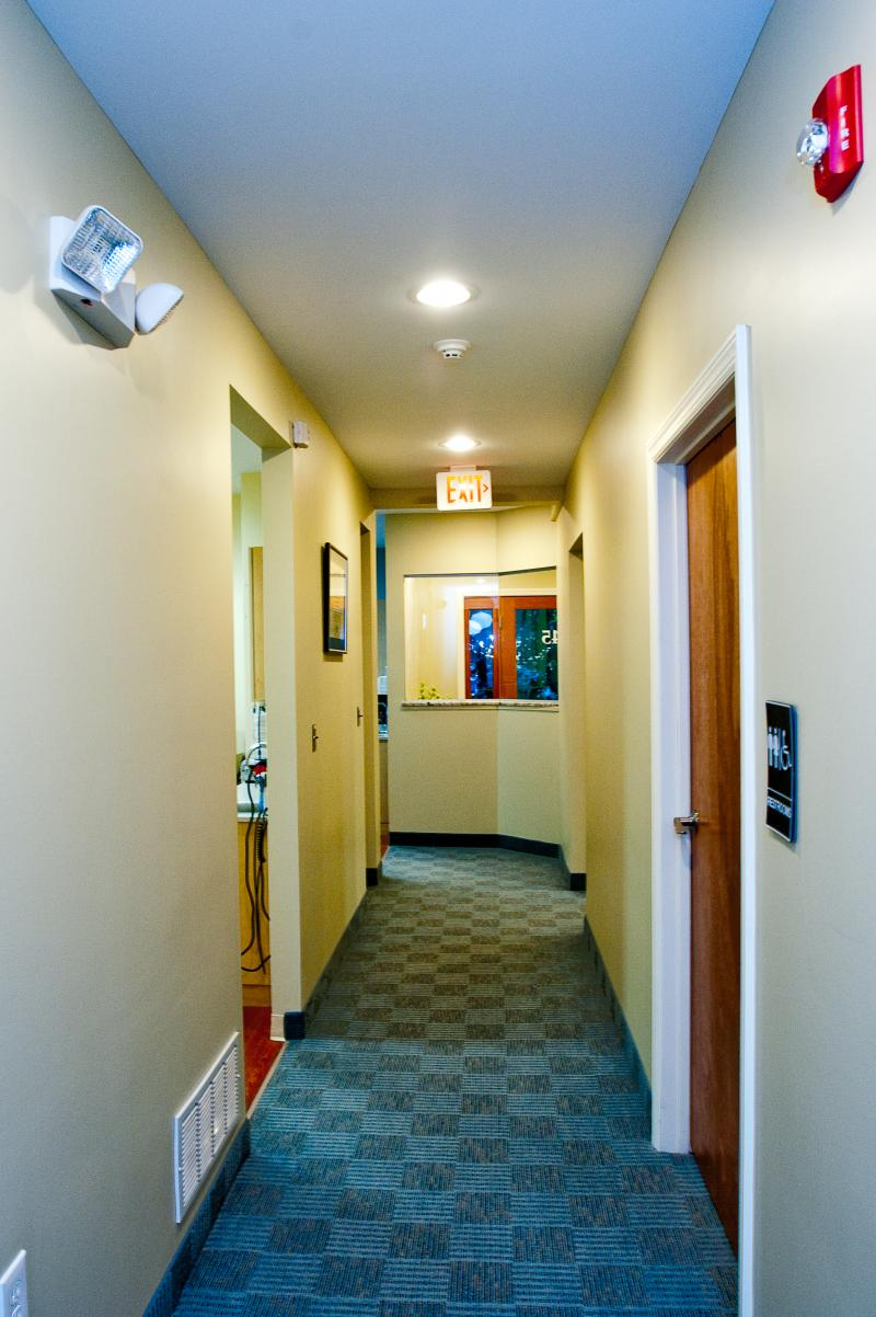 Hallway facing south